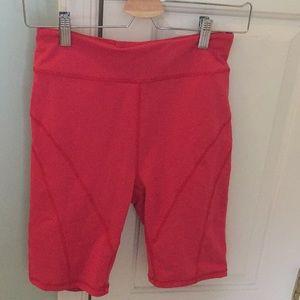Free People movement biker shorts size M red/pink